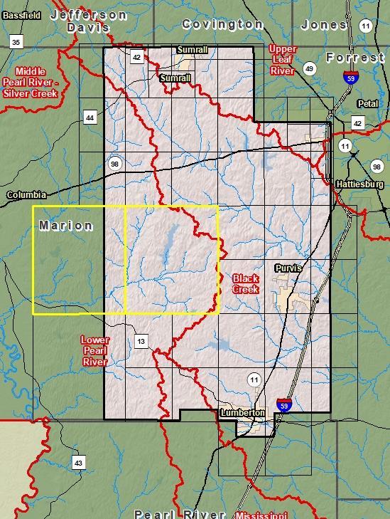 Risk Map - Lamar County
